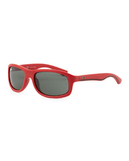 Ray-Ban Kid's Matte Sunglasses, Red