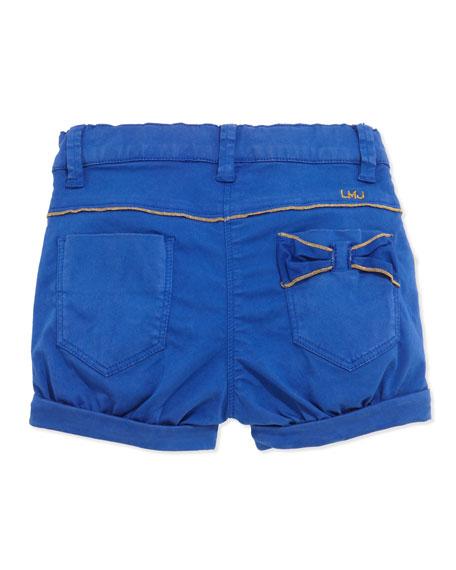 Woven Bubble Shorts, Blue, 3-18 Months