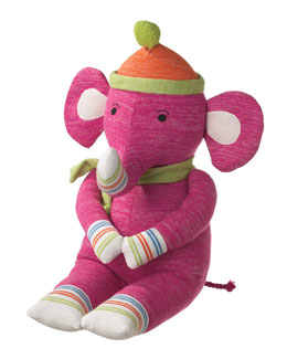 "Monkeez ""Elmer"" Large Plush Sock Elephant Toy"