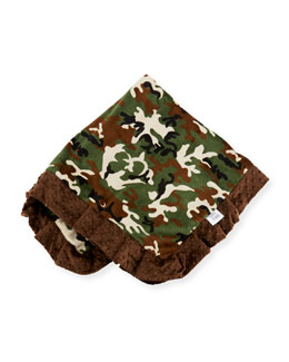 Camouflage Receiving Blanket, Blue