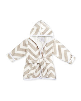 Infant Chevron Robe, Slate