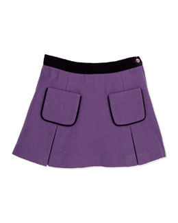 Wool A-Line Pocket Skirt, Orchid, 5Y-14Y