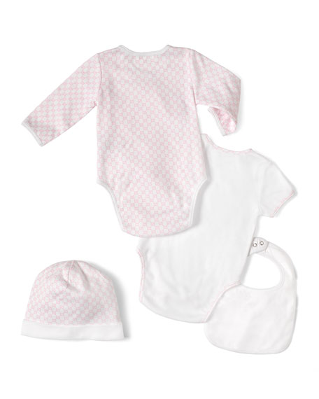 4-Piece Baby Girl Gift Set, White/Pink