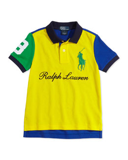 Ralph Lauren Childrenswear Mesh Novelty Polo Shirt, Boys' 2T-3T