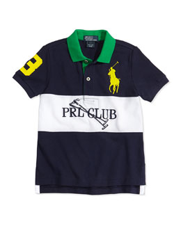 Ralph Lauren Childrenswear Colorblock Mesh Polo Shirt, Boys' 2T-3T