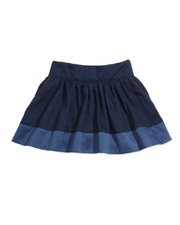 Little Marc Jacobs Twill Skirt with Piping, Size 12