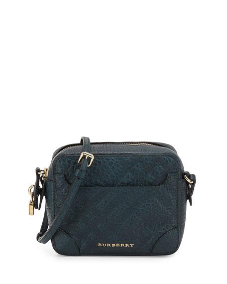 Burberry Girls  Check-Embossed Leather Crossbody Bag 56affff350b03