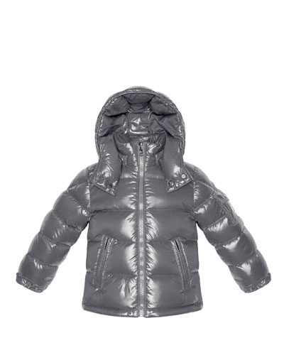 Maya Shiny Nylon Jacket, Silver, Sizes 2-6