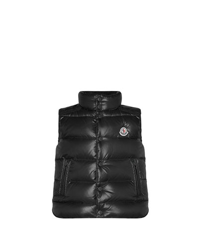 Tib Quilted Puffer Vest, Black, Sizes 2-6