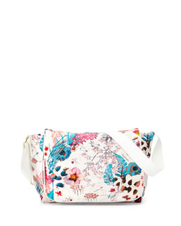 Roberto Cavalli Floral-Print Soft Diaper Bag