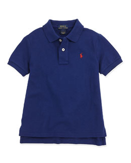 Ralph Lauren Childrenswear Stretch-Mesh Polo, Fall Royal, 2T-3T