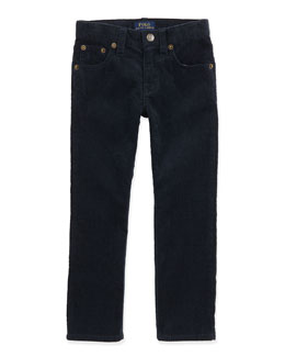 Ralph Lauren Childrenswear 14-Wale Corduroy Pants, Aviator Navy, 2T-3T