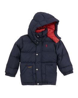 Ralph Lauren Childrenswear Elmwood Quilted Puffer Jacket, Aviator Navy, Sizes 4-7