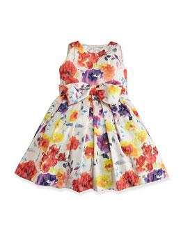 Floral-Print Jacquard Dress, Sizes 7-14