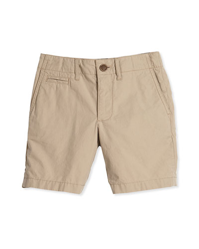 Super Exploded Straight-Leg Khaki Shorts, Honey, Size 4Y-14Y