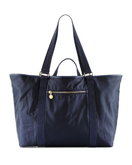 Faux-Leather Trim Diaper Bag, Night Night