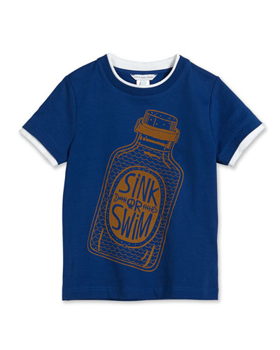 Sink or Swim Jersey Tee, Navy, Size 2-10