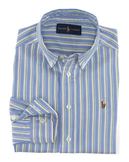 Blake Striped Oxford Shirt, Blue/Multicolor, Size 2-7
