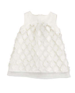 Sleeveless Tulle Dress, White, Size 6-18 Months
