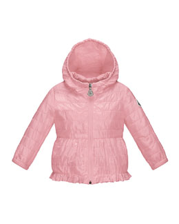 Nancy Hooded Peplum Jacket, Light Pink, Size 12 Months-3