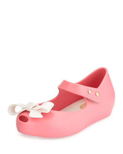 Mini Ultragirl Bow Jelly Flat, 5T-10T