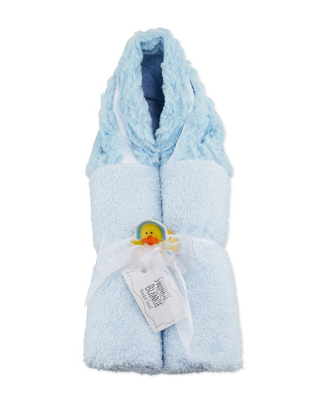 Ziggy Hooded Towel, Blue