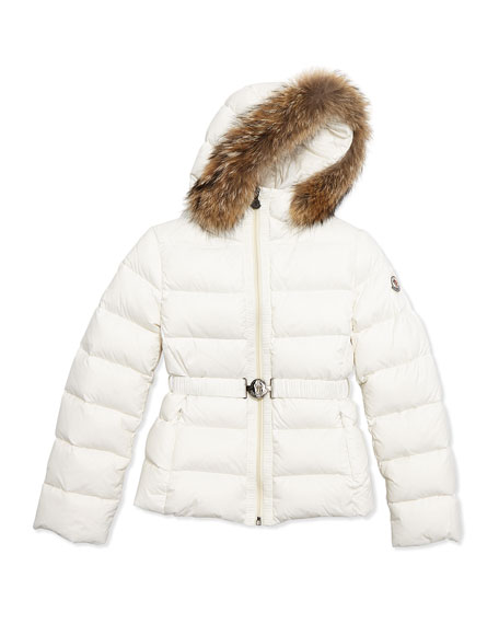 db99dbdfab ... australia moncler angers fur trim quilted down coat cream size 8 14  7f1ba 98ba4