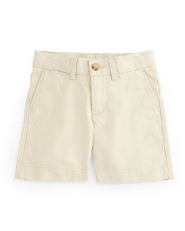 Cotton Flat-Front Prospect Shorts, Size 2-7