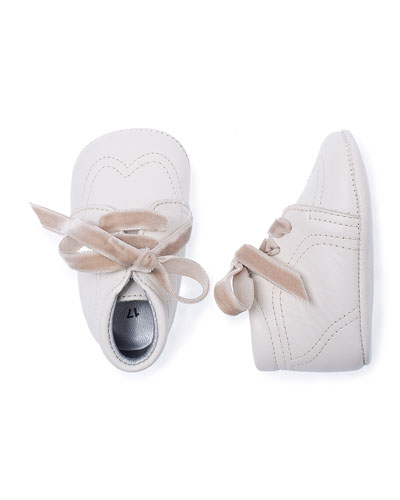 Leather Special Occasion Baby Bootie, Ivory, Infant