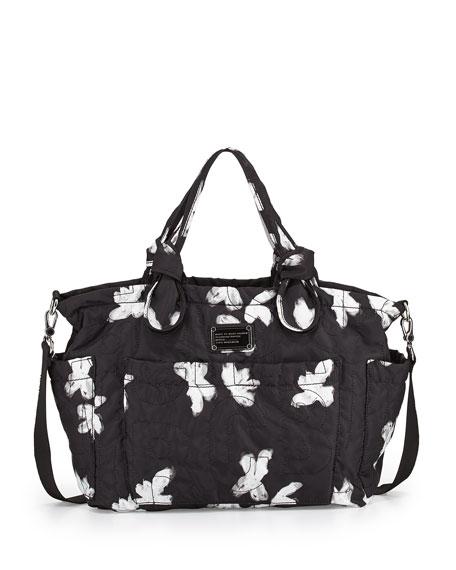 c8bcfaace65ebb MARC by Marc Jacobs Pretty Nylon Painted Flower Diaper Bag, Black Multi