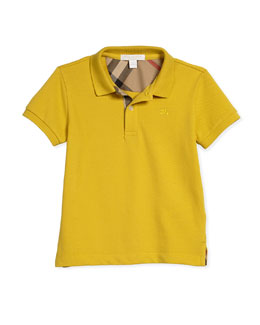 Pique Cotton Polo Shirt, Size 4-14