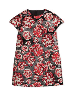 Girls Clothes 7-14 Designer Peony Brocade Sheath Dress
