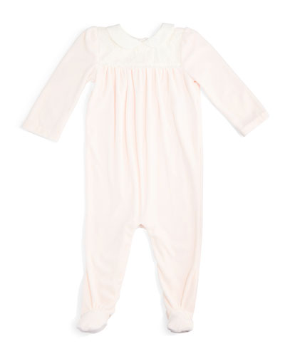 Pima Velour Footed Coverall, Size 3-9 Months