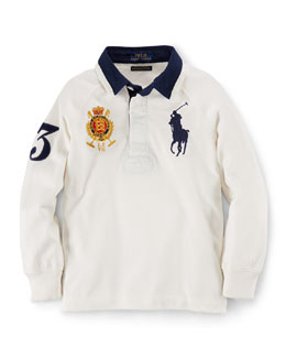 Cotton Rugby Jersey, Size 2-7