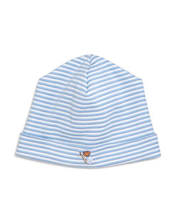 Sports Fan Striped Baby Hat, Blue