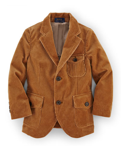 Thompson Cotton-Blend Corduroy Sport Coat, Rustic Tan, Size 2T-7