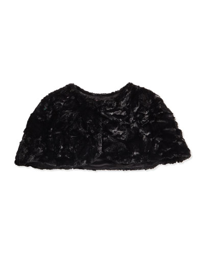 Faux-Fur Caplet, Size 2-6X