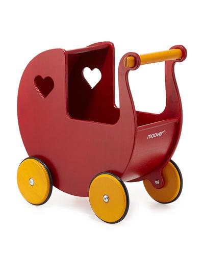 moover® Wooden Pram, Red