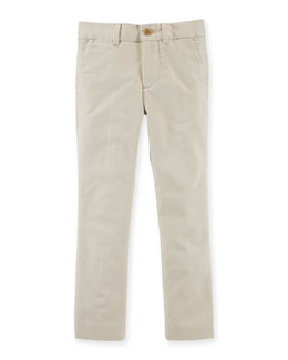 Stretch-Cotton Chino Pants, Size 2T-7