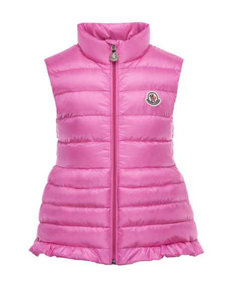 Moncler Cherame Down Lightweight Down Puffer Vest, Pink,