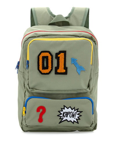 Kid's Rocket Graphic Backpack, Sage