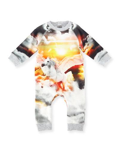 Jimbo Knit Pegasus Coverall, Gray, Size 6-18 Months