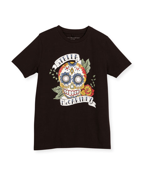 Arlo Sugar Skull Jersey Tee, Black, Size 4-10
