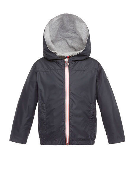Urville Jersey-Lined Raincoat, Navy, Size 4-6