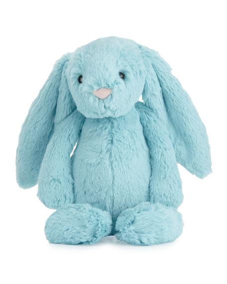 Medium Bashful Bunny Stuffed Animal, Aqua