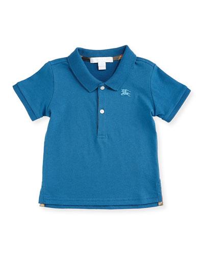 Palmer Pique Polo Shirt, Lupin Blue, Size 6M-3