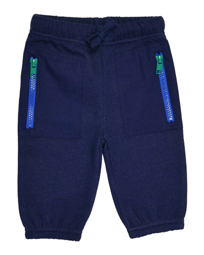 Jack Fleece Drawstring Sweatpants, Midnight Melange, Size 9-24 Months