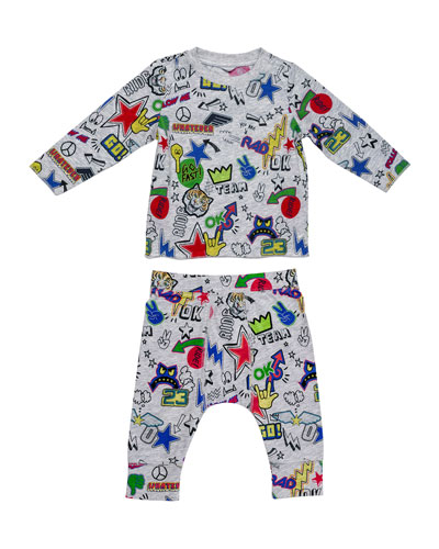 Georgie Macie Printed Two-Piece Set, Multicolor, Size 9-24 Months