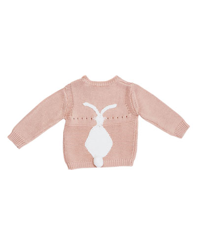 Thumper Knit Bunny Pullover Sweater, Pink, Size 18-24 Months