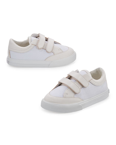 Burberry Heacham Solid Canvas Sneaker, White, Infant